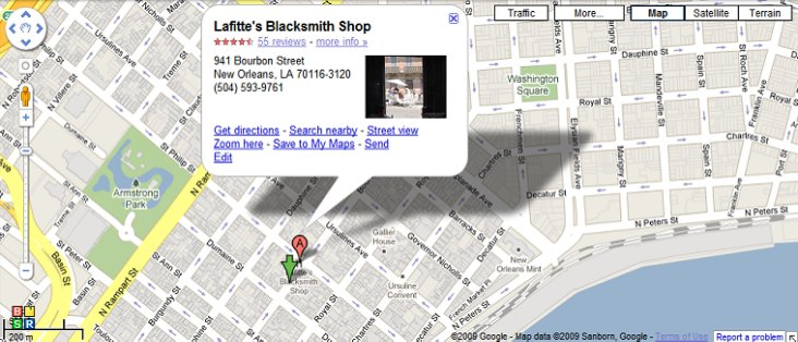 Location Lafitte S Blacksmith Shop Bar New Orleans La